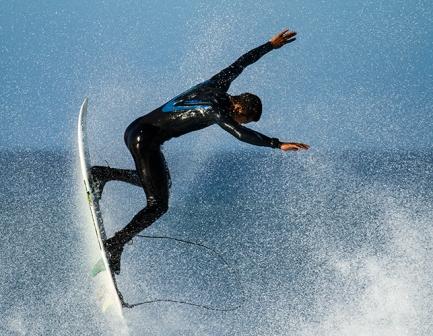 Surfing at Port Elizabeth
