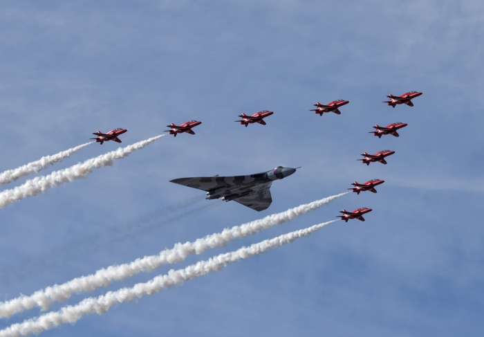 Red Arrows and Vulcan Flypast, Southport Airshow